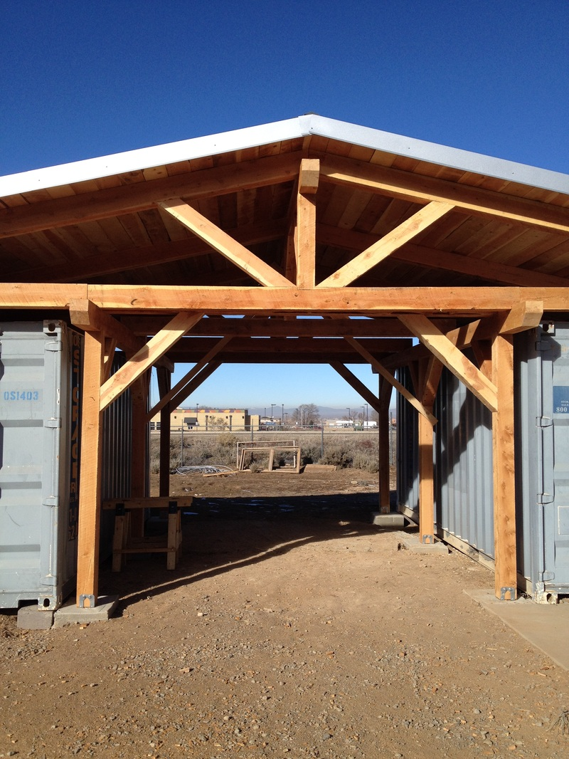 Shipping Container Woodshop - Southwest Sustainable Builders